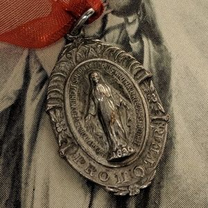 Jewelry - Antique Silver Plated Virgin Mary Gothic Pendant